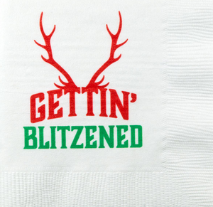 Gettin' Blitzened Cocktail Napkin