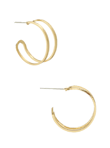 Gold Cut Out Hoop Earring