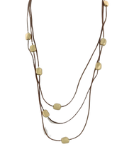 Brown Cord Layered Necklace