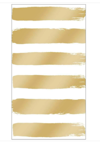 Gold Striped Guest Towels