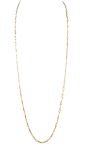 Gold 32'' Chain Necklace
