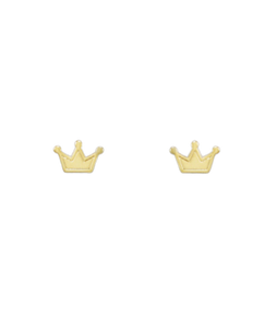 Gold Crown Studs