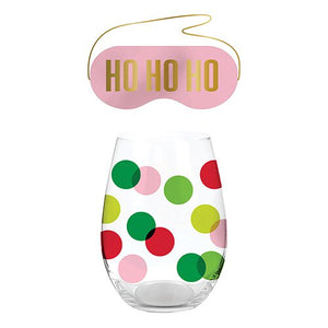 Ho Ho Stemless & Eye Mask