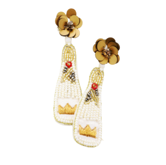 Ivory Crown Champs Earrings