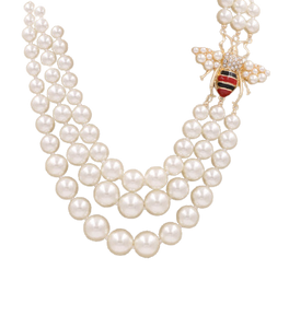 Bee & Pearl Layered Necklace
