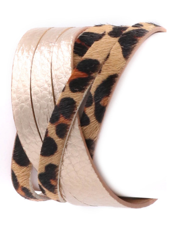 Leopard Faux Leather Bracelet