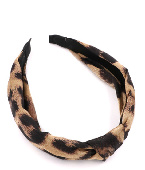 Tan Brown Leopard Headband