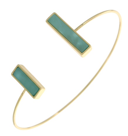 Mint Double Bar Cuff