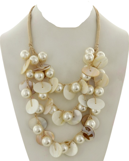 Pearl & Shell Layered Necklace