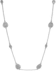 Silver Filigree Long Necklace