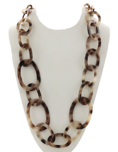Tortoise Acetate Link Necklace
