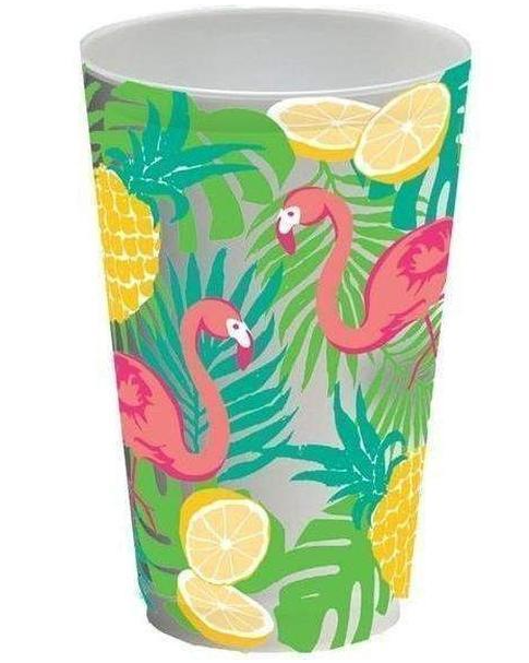 Tropical Flamingo Cups