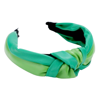 Two Tone Green Knot Headband