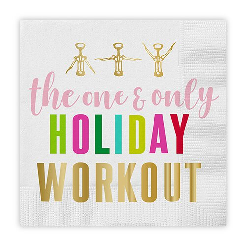 Holiday Workout Cocktail Napkins