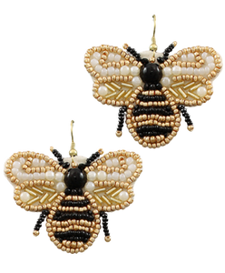 Beaded Bee Earring