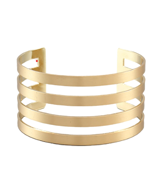 Gold Four Bar Cuff