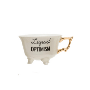 Liquid Optimism Teacup - MSP Miss Smarty Pants