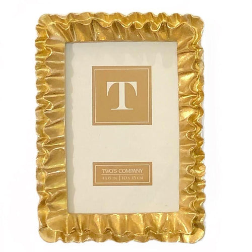4x6 Gold Ruffle Frame - MSP Miss Smarty Pants