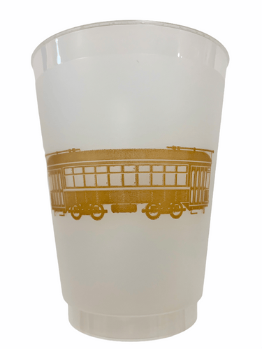 Gold Streetcar Frosted Cups - MSP Miss Smarty Pants