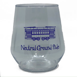 Purple Neutral Ground Side Stemless Wine Cup