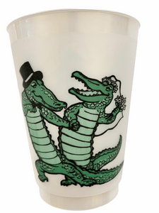 Alligator Wedding Frosted Cups - MSP Miss Smarty Pants