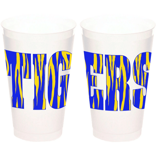 Tigers Frosted Cups - MSP Miss Smarty Pants