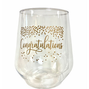 Congratulations Stemless Wine - MSP Miss Smarty Pants