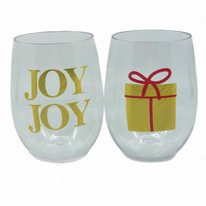2 Set Joy Stemless Wine