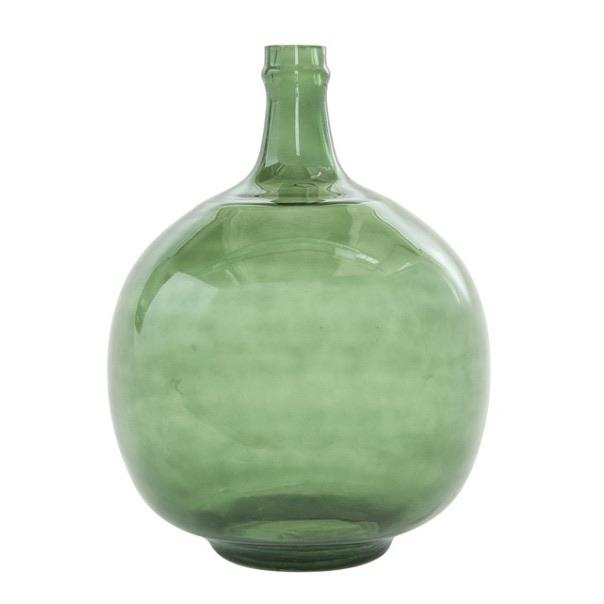 Green Vintage Glass Bottle