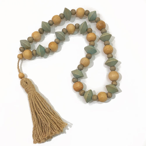 Abaca Wood Bead Strand