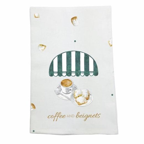 Coffee and Beignet Towel - MSP Miss Smarty Pants