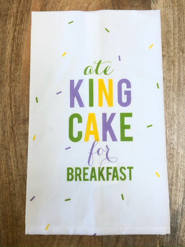 King Cake for Breakfast Towel