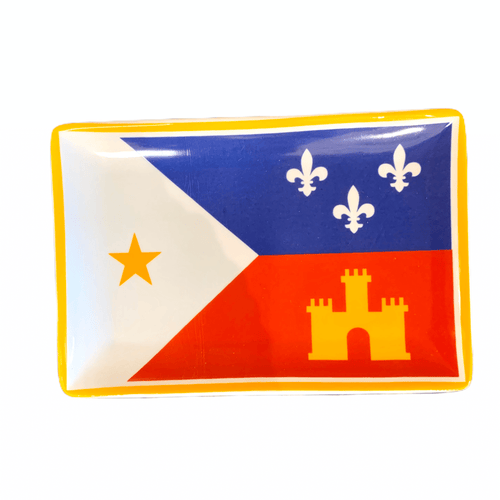 Acadian Flag Trinket Dish - MSP Miss Smarty Pants