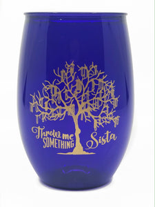 Purple Bead Tree Stemless Wine Cup - MSP Miss Smarty Pants