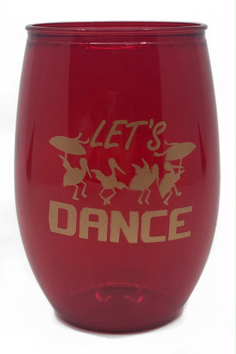 Red Pelicans Stemless Wine Cup