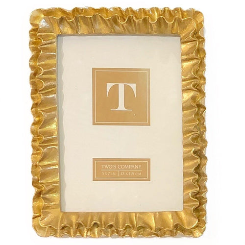 5x7 Gold Ruffle Frame - MSP Miss Smarty Pants