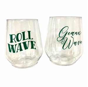 Tulane Stemless Wine - MSP Miss Smarty Pants
