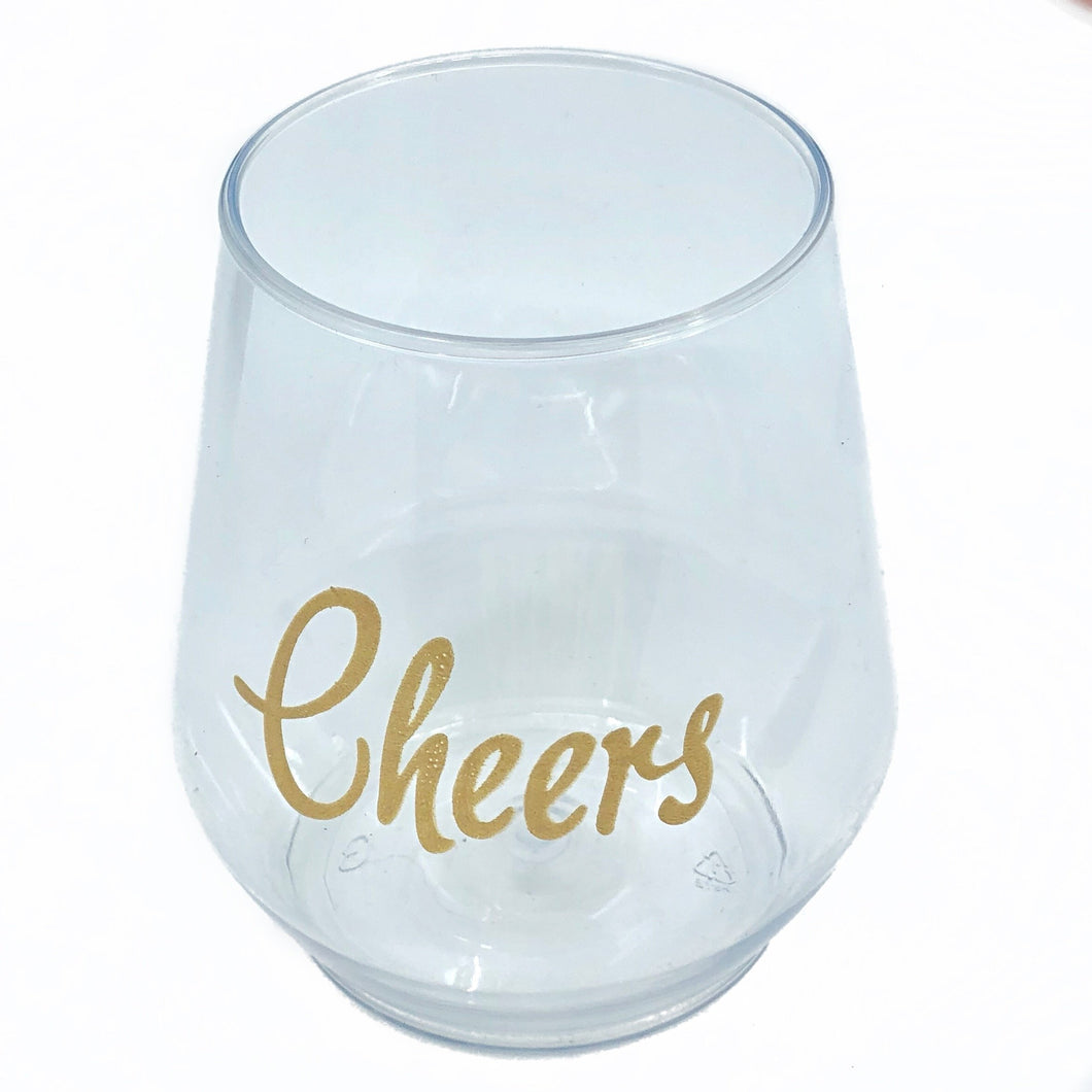 Cheers Stemless Wine - MSP Miss Smarty Pants