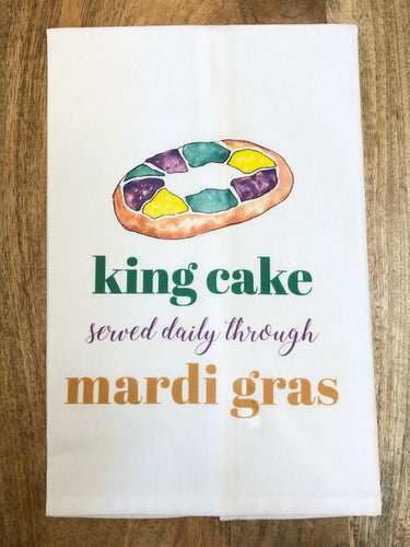King Cake Served Daily Towel - MSP Miss Smarty Pants