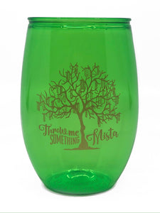 Green Bead Tree Stemless Wine Cup