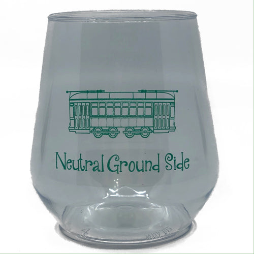 Green Neutral Ground Side Stemless Wine Cup