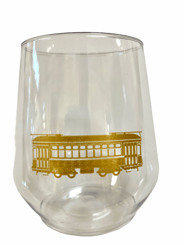 Gold Streetcar Stemless Wine - MSP Miss Smarty Pants