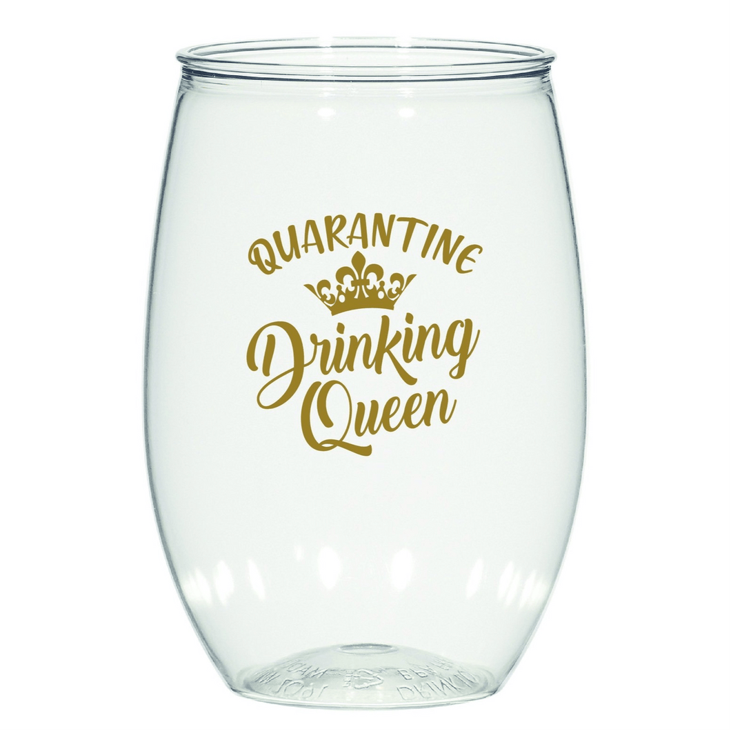 Quarantine Queen Stemless Wine - MSP Miss Smarty Pants
