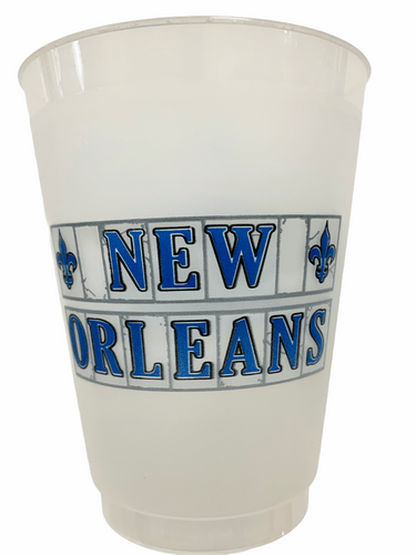 NOLA Tile Frosted Cups - MSP Miss Smarty Pants