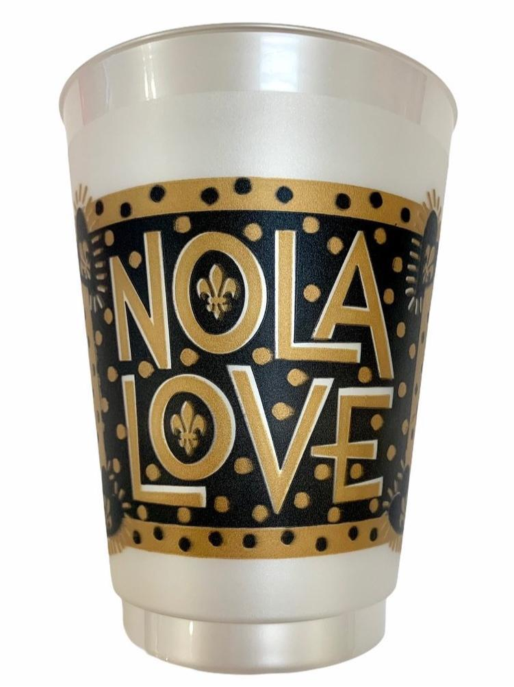 Black & Gold NOLA Love Frosted Cups - MSP Miss Smarty Pants