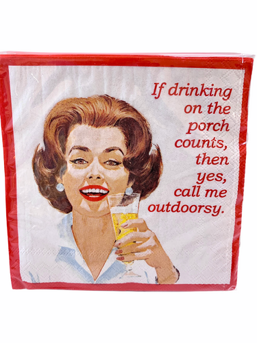 Call me Outdoorsy Cocktail Napkins