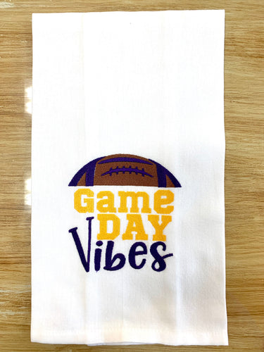 LSU Game Day Vibes Towel