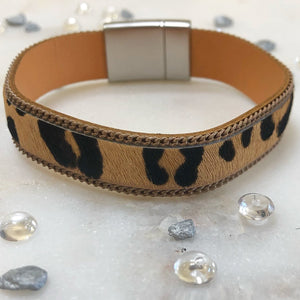 Faux Fur Cheetah Bracelet