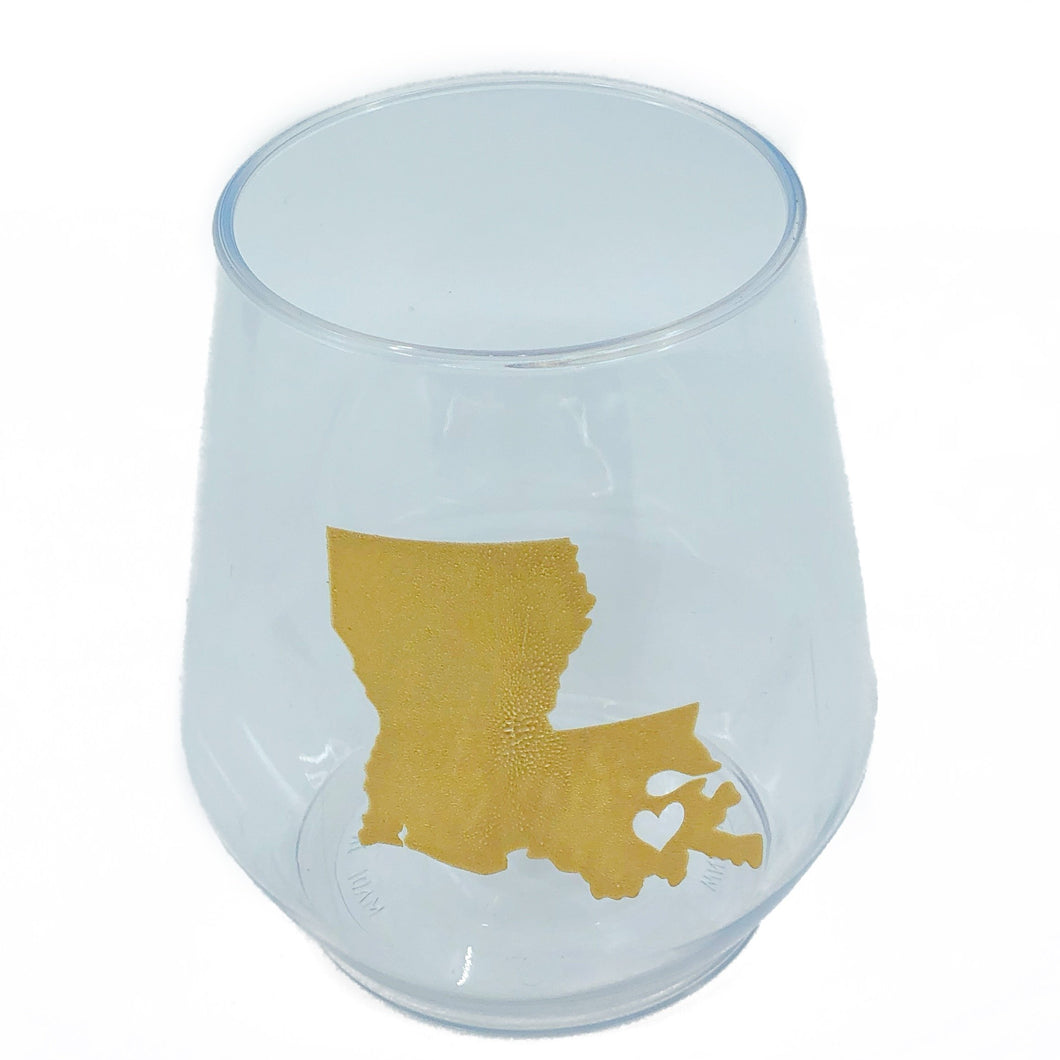 Louisiana Stemless Wine - MSP Miss Smarty Pants