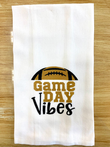 Saints Game Day Vibes Towel